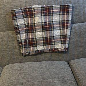 Topshop Plaid Mini Wrap Skirt